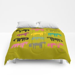 Colorful ponies Comforters