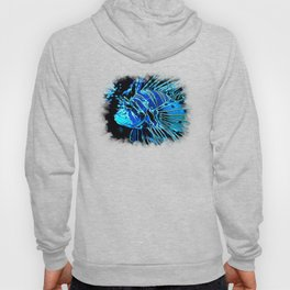 lionfish vector art blue Hoody