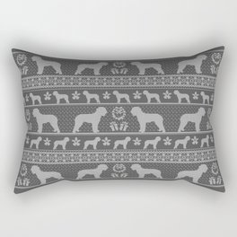 Ugly Christmas sweater | Lagotto Romagnolo grey Rectangular Pillow