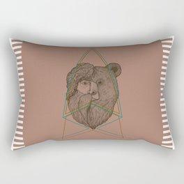 Tribal Bear-Man Rectangular Pillow