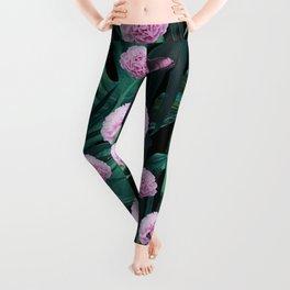Tropical Peonies Dream #1 #floral #foliage #decor #art #society6 Leggings