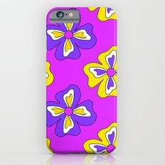 Pop pansy pattern! iPhone 6s Slim Case