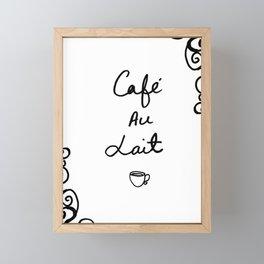 Cafe Au Lait Framed Mini Art Print