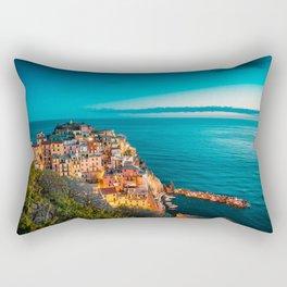 Beautiful Manarola at Night Rectangular Pillow