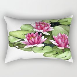 Waterlilies Rectangular Pillow