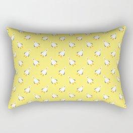 Teagull Pattern Yellow Rectangular Pillow
