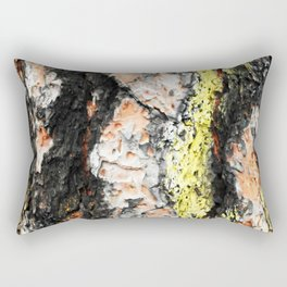 Colored Wood Two Rectangular Pillow