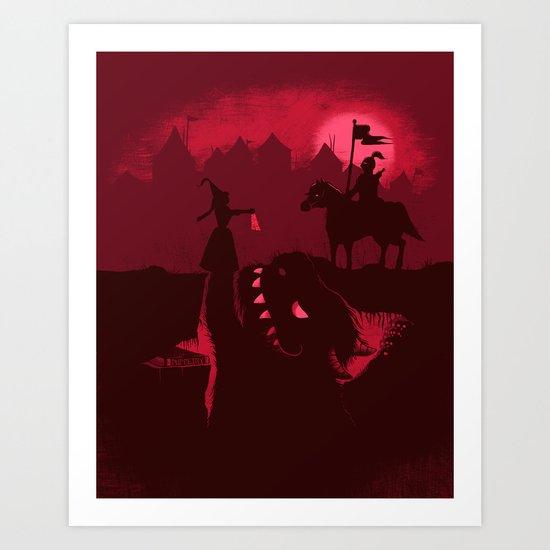 Farewell Brave Knight Art Print