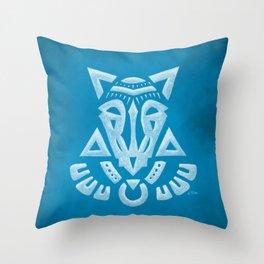 Demon Jackal Throw Pillow