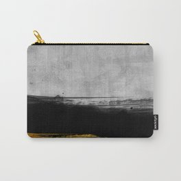 Black and Gold grunge stripes on modern grey concrete abstract backround I - Stripe - Striped Carry-All Pouch