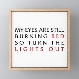 Lights Out Framed Mini Art Print