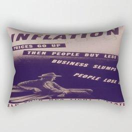 Vintage poster - Inflation Rectangular Pillow