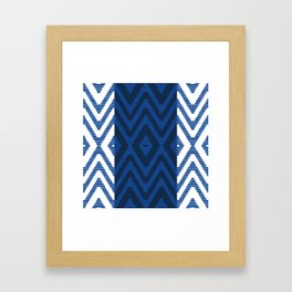 Rattan in Blue Framed Art Print