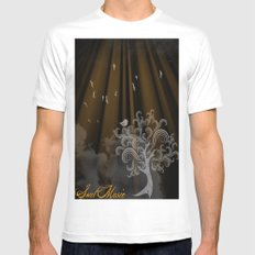 Soul Music Mens Fitted Tee MEDIUM White