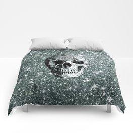 Modern sparkling Skull E Comforters