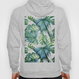 Blue Jungle Leaves, Monstera, Palm #society6 Hoody