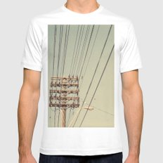 wire Mens Fitted Tee White MEDIUM