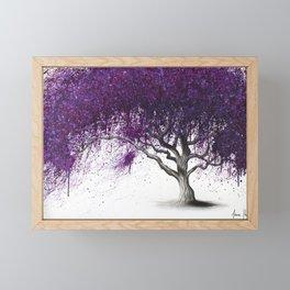 Violet Shadows Tree Framed Mini Art Print