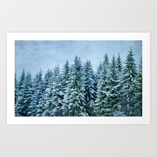 xmas trees Art Print