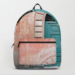 Turquoise Green door in Trastevere, Rome. Travel print Italy - film photography wall art colourful. Backpack
