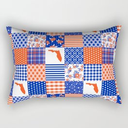 Florida University gators swamp life varsity team spirit college football quilted pattern gifts Rectangular Pillow