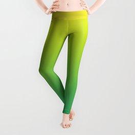 Meadowlark, Lime Punch, Arcadia Blurred Minimal Gradient | Pantone colors of the year 2018 Leggings