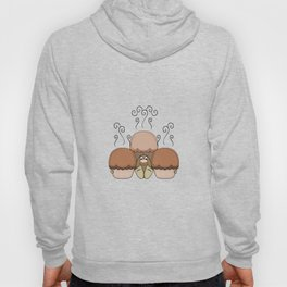 Cute Monster With Orange Frosted Cupcakes Hoody