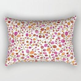 Tangle of Leaves - Autumn Berries Rectangular Pillow