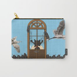 Cats and birds don't match Carry-All Pouch