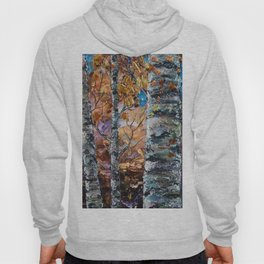 Birch Trees with Palette Knife by OLena Art for @society6 Hoody