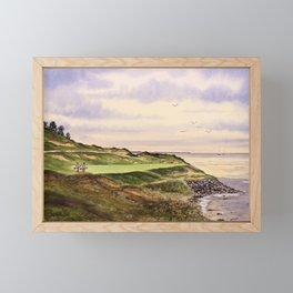 Whistling Straits Golf Course Hole 7 Framed Mini Art Print