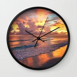 Lido Sunset Wall Clock