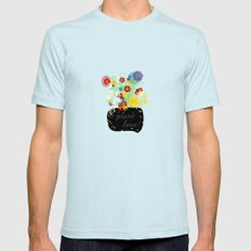 Plant Love! SMALL Light Blue Mens Fitted Tee
