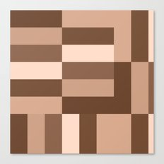 Shades of Brown Blocks Canvas Print