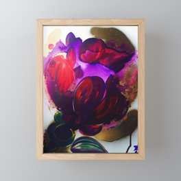 Purple and Gold Poppies Maybe? Framed Mini Art Print