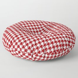 HoundsTooth Samba Sultry Red Floor Pillow