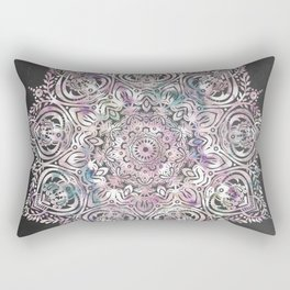 Dreams Mandala - Magical Purple on Gray Rectangular Pillow