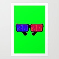 Green Screen 3D Art Print