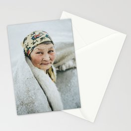 A nomad woman of the Nenets in Siberia, Russia | Portrait & Travel Photography art print Stationery Cards