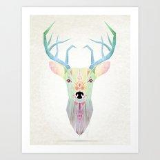 white deer Art Print