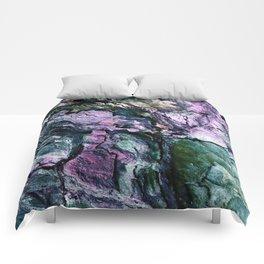 Textured Minerals Teal Green Purple Comforters