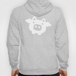 Pigs Will Fly - white on black Hoody