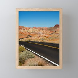Valley of Fire, Nevada. Framed Mini Art Print
