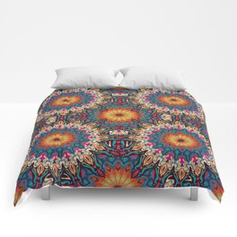 Colorful abstract ethnic floral mandala pattern design Comforters