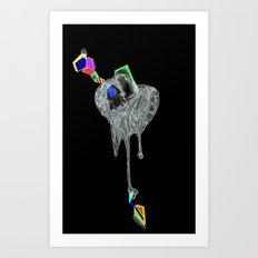 NEGATIVE HEARTACHE AHEAD Art Print