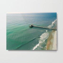 Ocean Pier Metal Print
