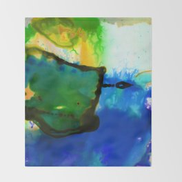 Abstract Bliss 4I by Kathy Morton Stanion Throw Blanket