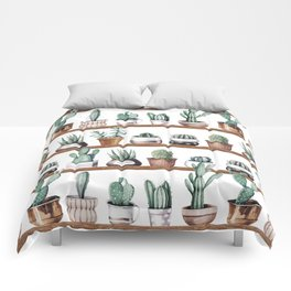 Cactus Shelf Rose Gold Green Comforters