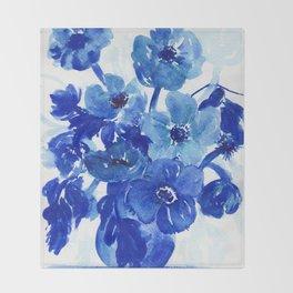 blue stillife Throw Blanket