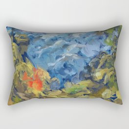 Landscape 2 Mountains Rectangular Pillow